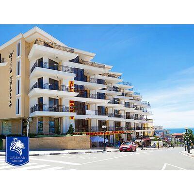 """ID503 Апартамент с тремя спальнями и видом на море в комплексе """" Вилла Калабрия """" В Святом Власе"""
