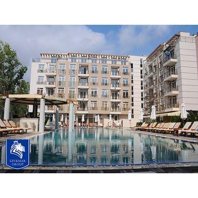 "ID600 Апартамент с двумя спальнями в комплексе "" Даун Парк "" Солнечный берег<br><span style=""color: #2cbde1;"">Солнечный берег</span>"