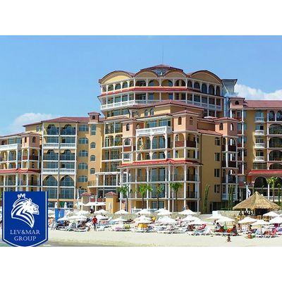 """ID19 Двухкомнатная квартира с частичным видом на море в апарт - комплексе"""" Atrium Beach """" в курорте Елените, Елените"""