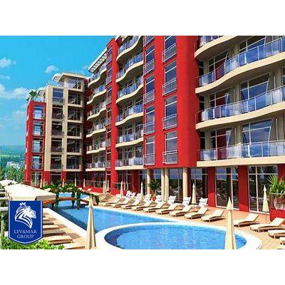 """ID43 Недорогая квартира - студия в комплексе"""" Global Ville """" в западной части курорта Солнечный берег, Солнечный берег"""