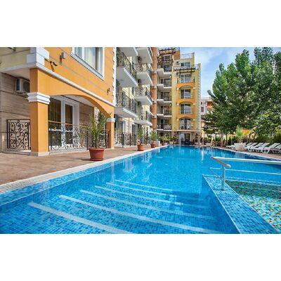 """ID1070 Апартамент с двумя спальнями в комплексе """" Свит Хоумс """" Солнечный берег"""