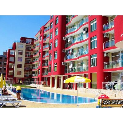 "ID1744 Двухкомнатная квартира в комплексе "" Глобал Вилл ""<br><span style=""color: #2cbde1;"">Солнечный берег</span>"