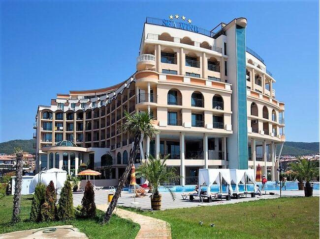 """ID1199 Студия с видом на море в апарт-отеле """" Гранд Отель Святой Влас """" Святой Влас"""