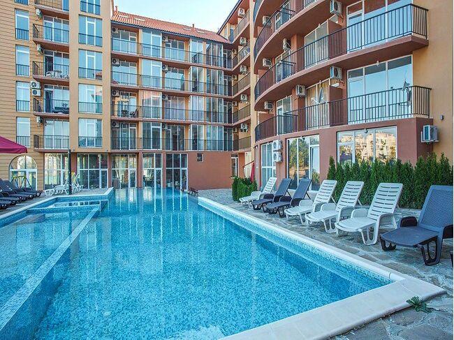 """ID696 Апартамент с одной спальней в комплексе """" Санни Вью Саут """"<br><span style=""""color: #2cbde1;"""">Солнечный берег</span>"""